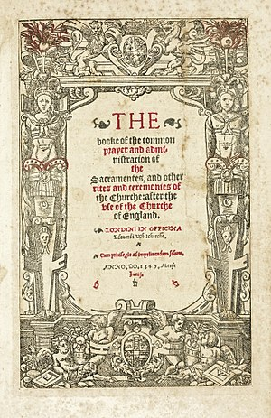 Book of Common Prayer - Cranmer's 1549 Book of Common Prayer