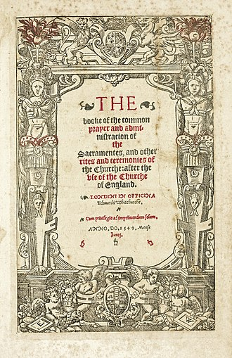 Prayer Book Rebellion - Cranmer's Prayer book of 1549