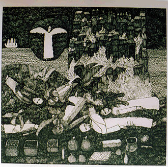 Dave Pearson (painter) - Drawing number 7 from the 4th Book of Revelation by Dave Pearson