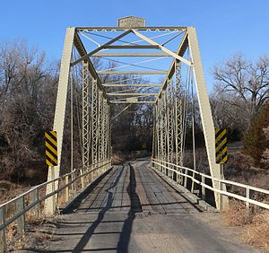 National Register of Historic Places listings in Cherry County, Nebraska - Image: Borman Bridge (Niobrara River) from SE 2