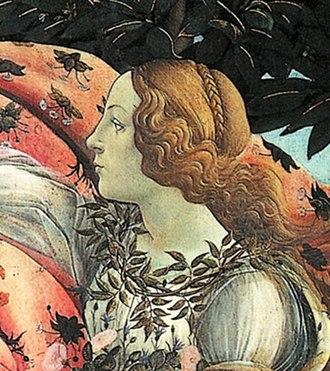 Simonetta Vespucci - Image: Botticelli Birth of Venus detail Flora