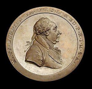 Matthew Robinson Boulton - Matthew Robinson Boulton medal struck at the Soho Foundry, Smethwick, West Midlands, England, c. 1803.