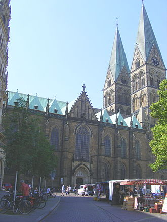 Bremen Cathedral - Bremen Cathedral, northern façade
