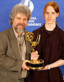 Brian Keane With Son 2005 Emmy Awards.jpg