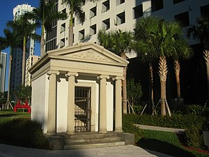 National Register of Historic Places listings in Miami - Image: Brickell Mausoleum, Miami, Florida IMG 7996