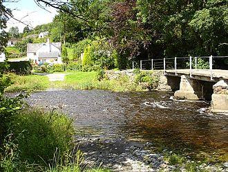 Dolanog - Bridge next to ford, across the Vyrnwy, Dolanog