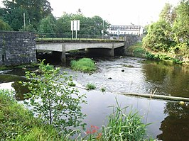 Bridge and Weir on the River Vartry in Ashford, Co. Wicklow - geograph.org.uk - 1437954.jpg