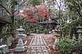 Bright red autumn maple in Mitaki-dera - panoramio.jpg