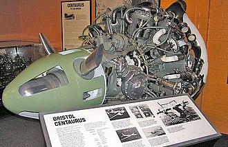 Bristol Centaurus - Bristol Centaurus engine cutaway