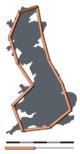 Coastline of Britain measured using a 200 km scale
