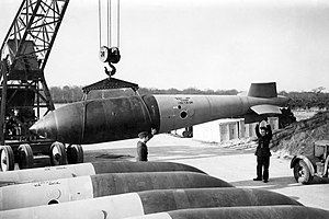 "Aerial bomb - Royal Air Force ""Grand Slam"" bomb, early 1945"