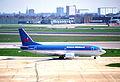 British Midland Airways Boeing 737-33A; G-OBMD@LHR;13.04.1996 (5216901915).jpg