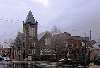 National Register of Historic Places listings in Bradley County, Tennessee - Image: Broad street united methodist tn 1
