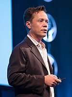 Brock Pierce at the SingularityU The Netherlands Summit 2016 (29033319263) (cropped) (cropped).jpg