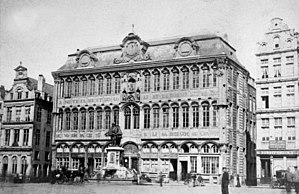 Museum of the City of Brussels - The Maison du Roi/Broodhuis before the 19th century Neo-Gothic reconstruction campaign.