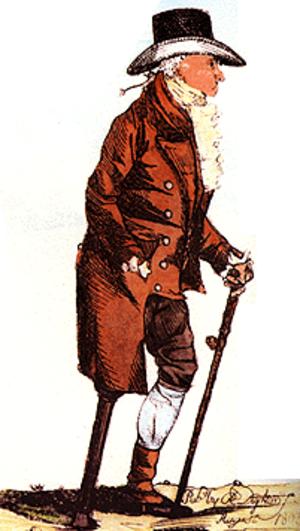 Brook Watson - Caricature of Watson by Robert Dighton, 1803