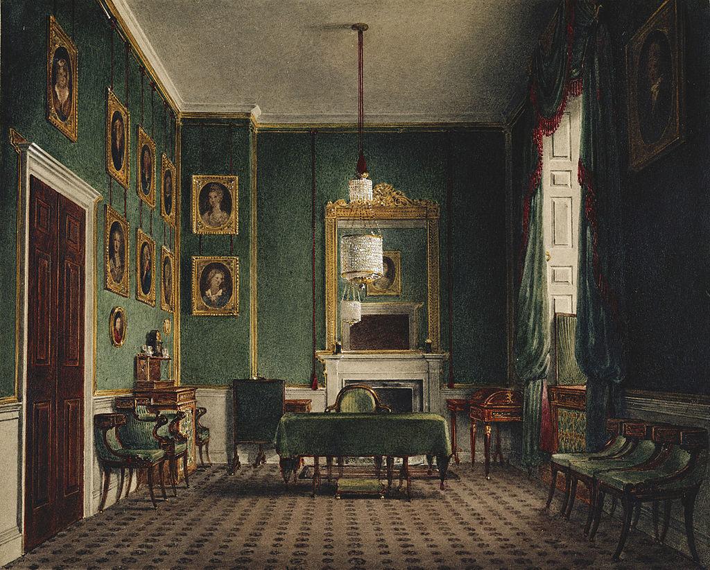 Букингемский дворец, зеленый шкаф, Джеймс Стефанофф, 1819 - королевский колл 922146 313708 ORI 2.jpg