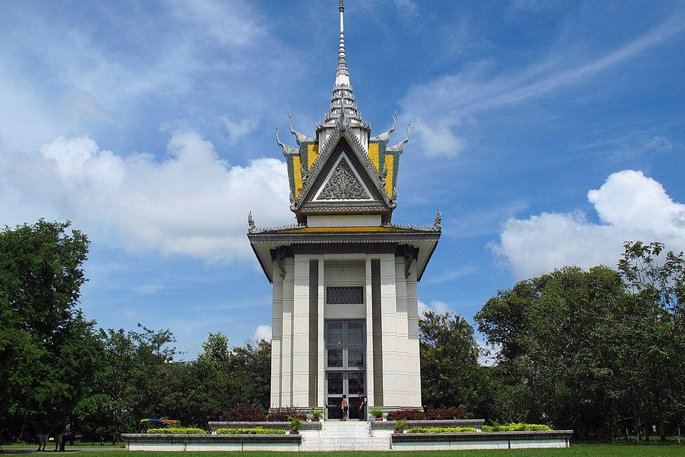 Buddhist Stupa at Choeung Ek killing fields, Cambodia