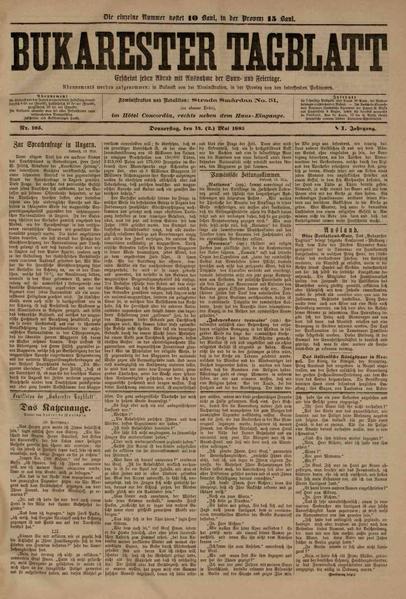 File:Bukarester Tagblatt 1885-05-14, nr. 105.pdf