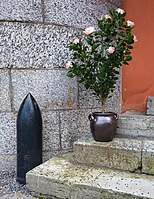 Bullet and flowers at Vaxholm Fortress.jpg