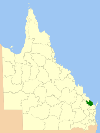 Bundaberg Region - Location within Queensland