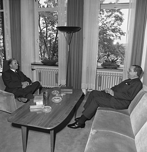 Gerardo Roxas - Gerardo M. Roxas (right) during a meeting in West-Germany with secretary of state Karl Carstens (left) in 1964