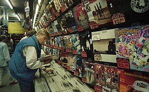 Record shop - German record shop (1988)