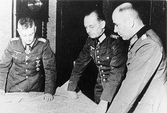 Battle of Elsenborn Ridge - Walter Model, Gerd von Rundstedt and Hans Krebs plan for the Ardennes Offensive (Battle of the Bulge) in November 1944.