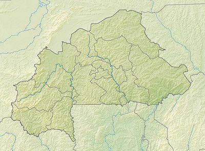Location map Burkina Faso