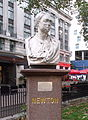 Bust of Newton - Leicester Square Gardens, London.jpg