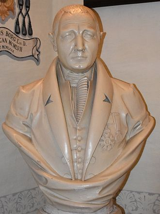 """Vincenzo Borg - Bust of Vincenzo Borg, """"Brared"""", at the St Helen's Basilica Museum"""