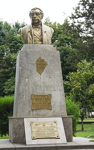 América, Buenos Aires - Image: Busto de Rivadavia en América (Argentina)