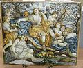 C.sf., castelli, francesco saverio grue, mattonella con riposo di diana, 1740-1745.JPG