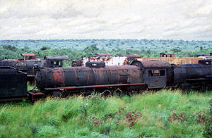 2-10-4 - No. 801 dumped at Lubumbashi
