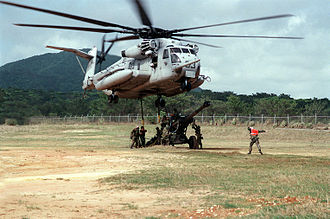 HMH-361 - A CH-53 from HMH-361 training in Okinawa in 1995.