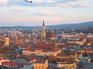 Cluj-Napoca, panorama from the Belvedere