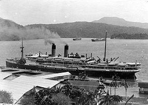 SS Jan Pieterszoon Coen - Image: COLLECTIE TROPENMUSEUM S.S. 'Jan Pieterszoon Coen' gemeerd aan de handelssteiger te Sabang op het eiland We Noord Sumatra T Mnr 10007920