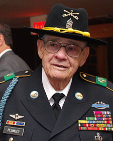 CSM(R) Basil L. Plumley at West Point 10 May 2010.JPG
