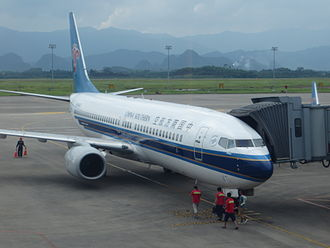 Guilin Liangjiang International Airport - A China Southern Airlines 737-800 boarding