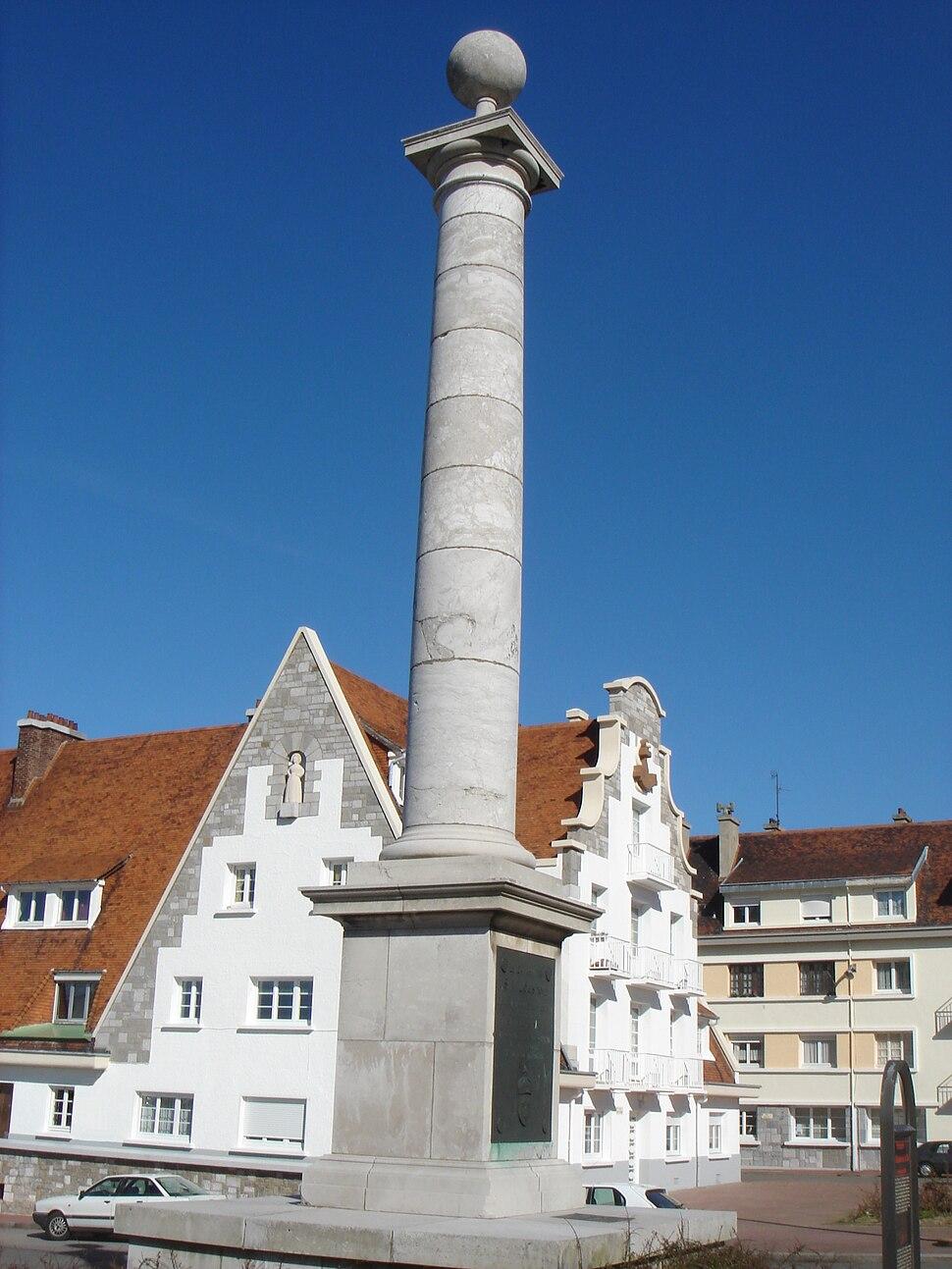Calais colonne louis XVIII