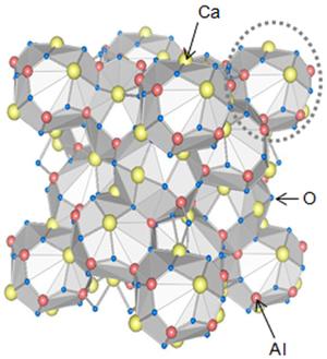 Calcium aluminates - Image: Calcium heptaaluminate str