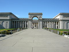 Vue du California Palace of the Legion of Honor