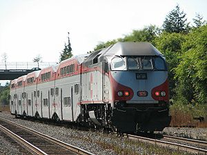Caltrain Express - Northbound Baby Bullet in 2005