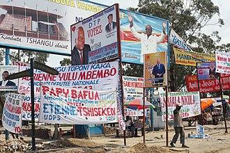 2011 Democratic Republic of the Congo general election - Electoral campaign posters in Ndjili, Kinshasa