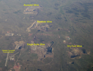 Eagle Butte Mine - Coal mines north and east of Gillette–Campbell County Airport, including the Eagle Butte Mine