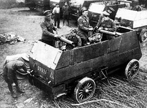 Armoured Autocar - Another view of Armoured Autocars being cleaned