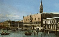 Canaletto (Venice 1697-Venice 1768) - Venice, The Molo with the Prisons and the Doges' Palace - RCIN 400517 - Royal Collection.jpg
