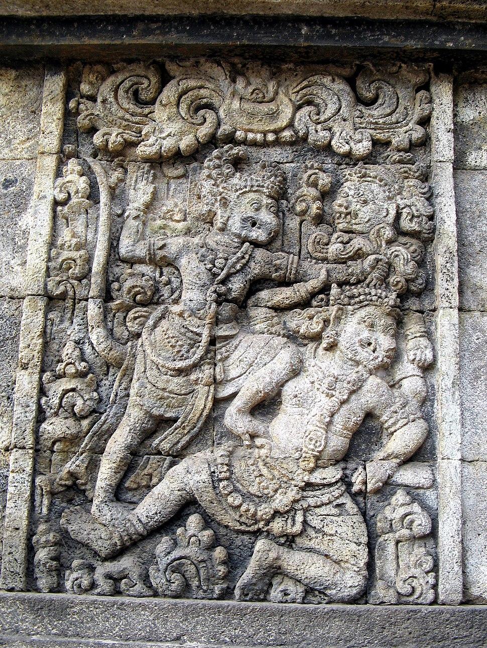 Candi Panataran Ramayana Relief, Java 1302