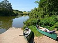 Canoes by the lake - geograph.org.uk - 899902.jpg