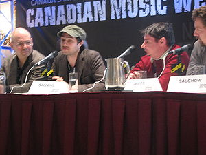 Jordan Galland as Panal Member at Canada Music Week 2009